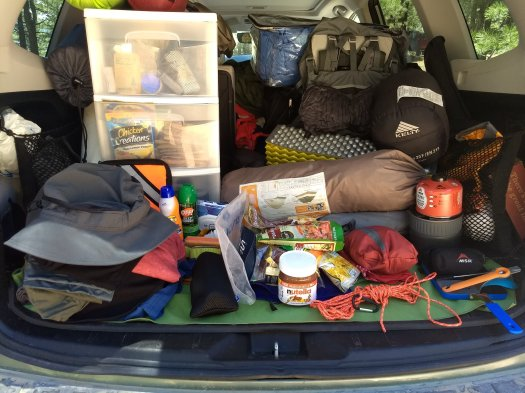Gear List for Stanislaus backpacking trip - July 2019