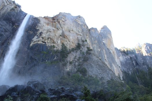 Bridalveil Falls and surrounding rockface