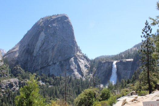 Liberty Cap and Nevada Fall on hike back 7-10-19