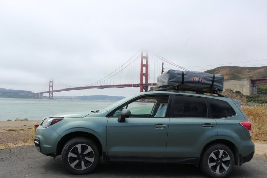 At the Golden Gate - my attempt at a photoshoot for Subarru