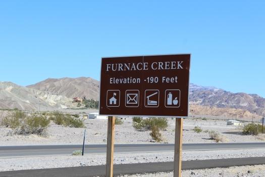 Furnace Creek sign - 8-1-19